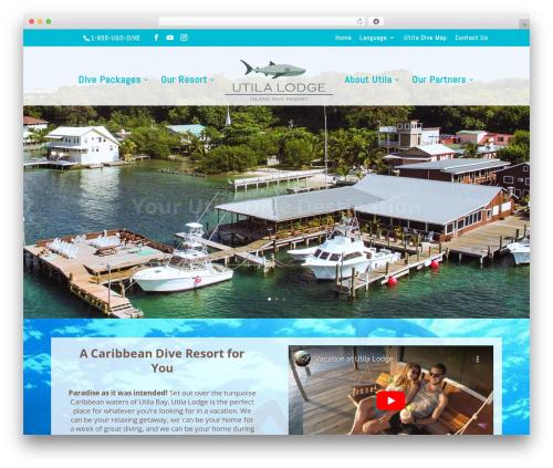 Template WordPress Divi - utilalodge.com