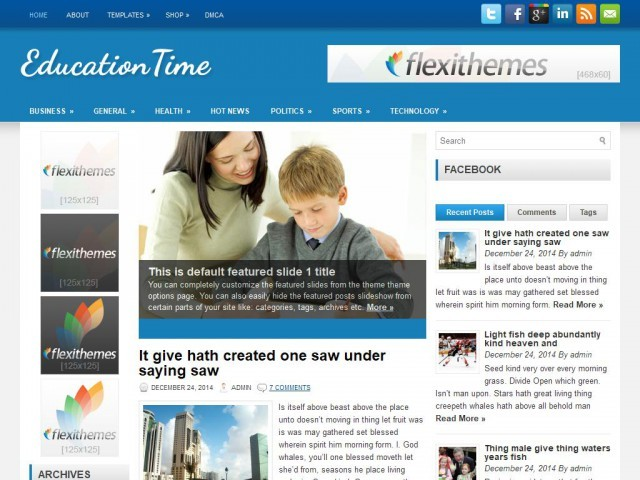 Template WordPress EducationTime