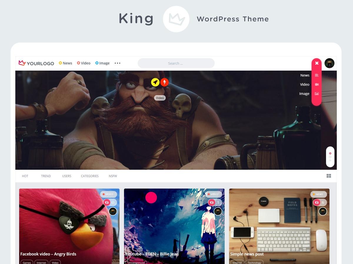 Template WordPress King