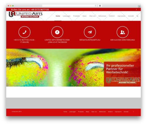 Theme WordPress Enfold - unitedarts.eu