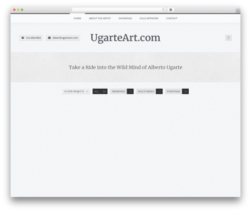 Theme WordPress FireFly - ugarteart.com