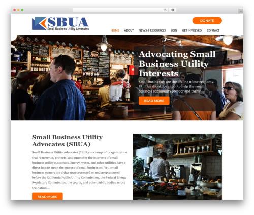 Thesis business WordPress theme - utilityadvocates.org