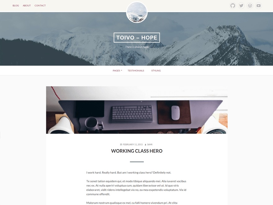 Toivo business WordPress theme