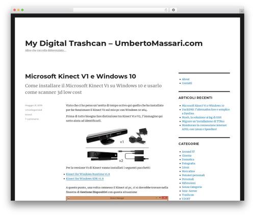 Twenty Sixteen WordPress theme download - umbertomassari.com