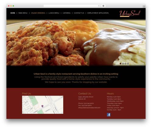 UniSphere Vision premium WordPress theme - urbansoulrestaurant.com