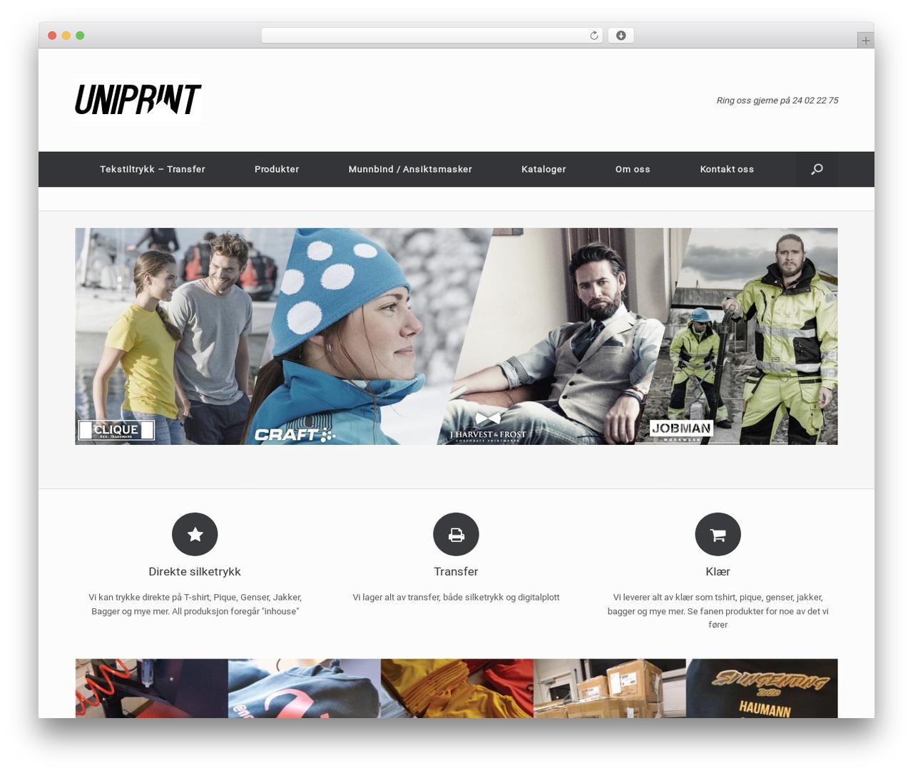 d44d0383 Vantage template WordPress free - uniprint.no. Last updated Jun 2019.  Uniprint AS -Alt innen tekstil og klær med trykk. Ring oss på 24 02 ...