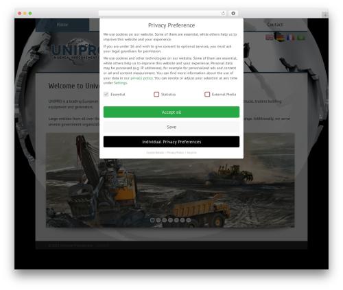Vittoria theme WordPress - universal-procurement.com