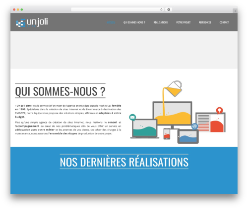 WordPress template Applay - unjolisite.com