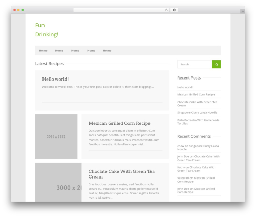 WordPress template Chow - updrinking.com