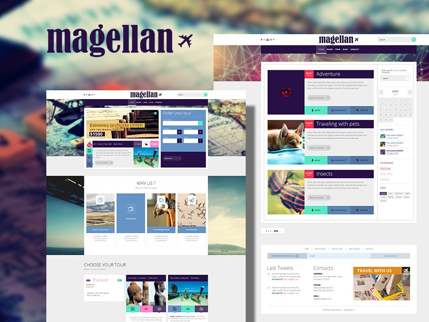 WordPress template Magellan