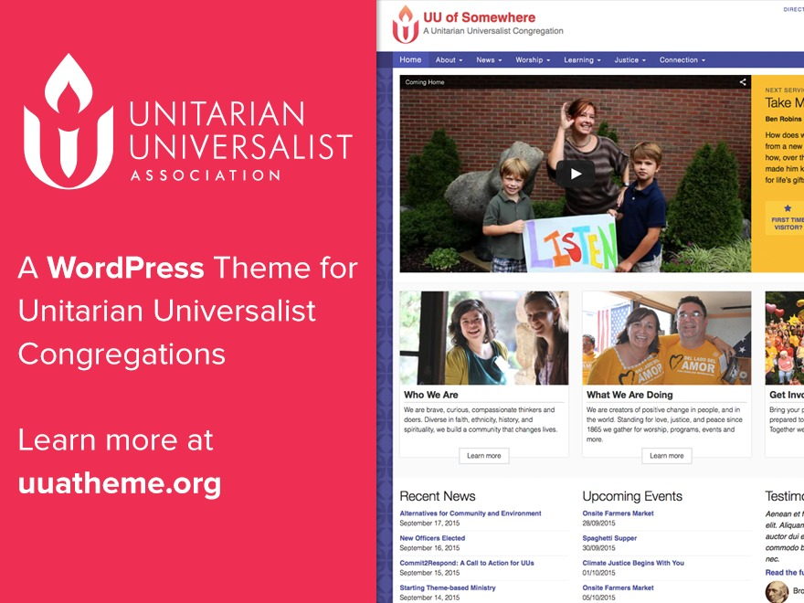 WordPress template UUA Congregation