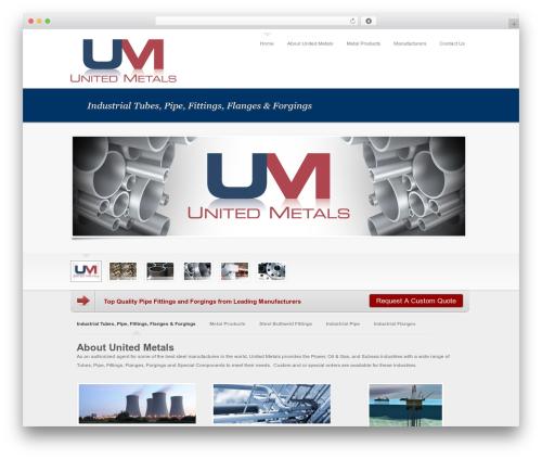 WordPress theme Tesla - united-metals.com
