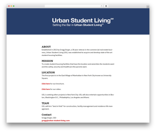 WordPress theme Twenty Thirteen - urban-student-living.com