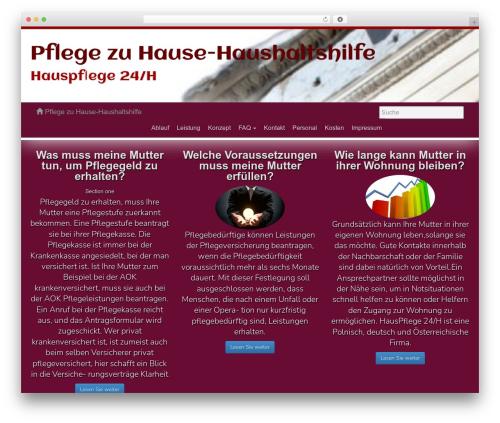 Athenea free WordPress theme - hauspflege24h.de