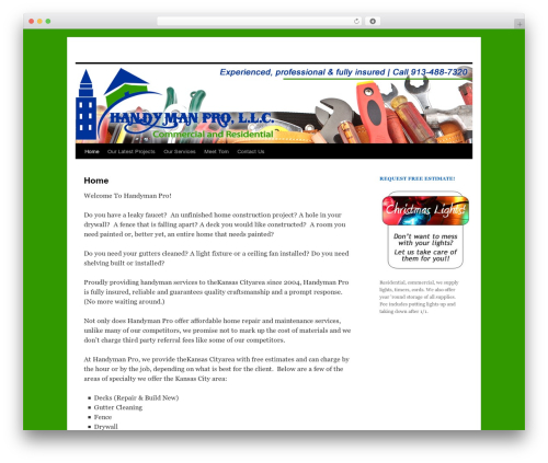 Best WordPress template Twenty Ten - handymanprokc.com