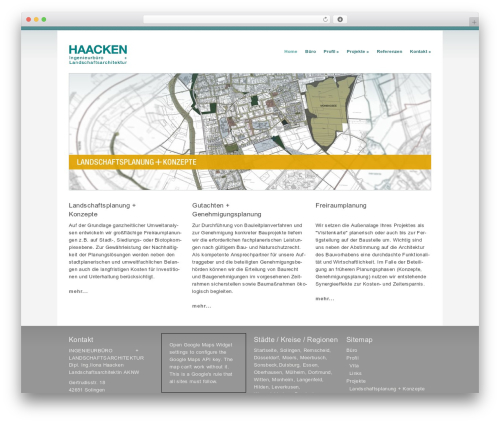 Best WordPress theme Orion - haacken-landschaftsarchitektur.de