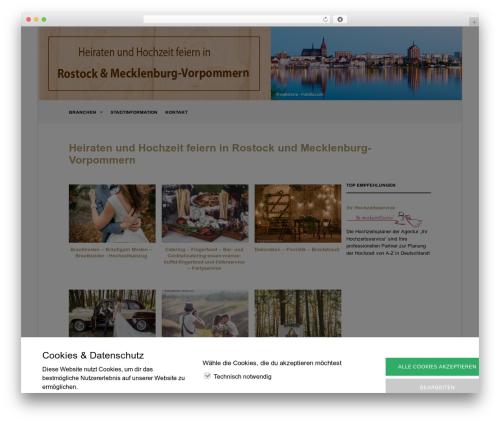Best WordPress theme The Retailer - hochzeit-feiern-rostock.de