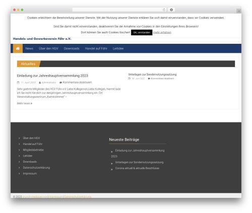ColorNews theme WordPress free - hgv-foehr.de