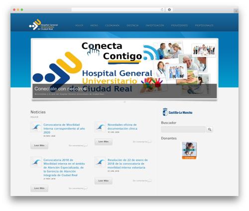 Colorwave WordPress website template - hgucr.es