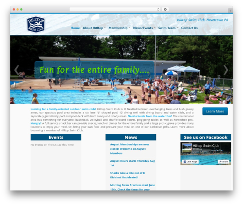 Customizr WordPress theme design - hilltopswimclub.org