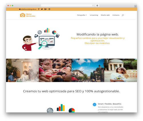 Divi WordPress page template - hectorfotografo.es