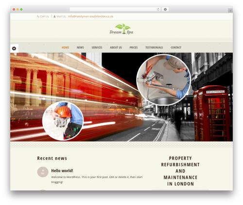 Dream Spa best WordPress theme - handyman-southlondon.co.uk