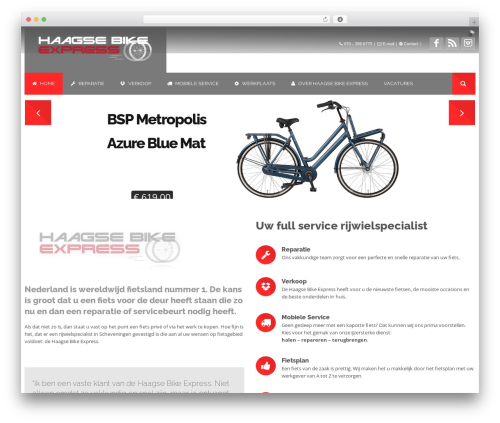 Effektive best WordPress theme - haagsebikeexpress.nl