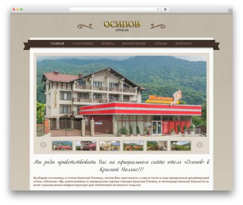 Klasik WordPress template - hotel-osipov.ru