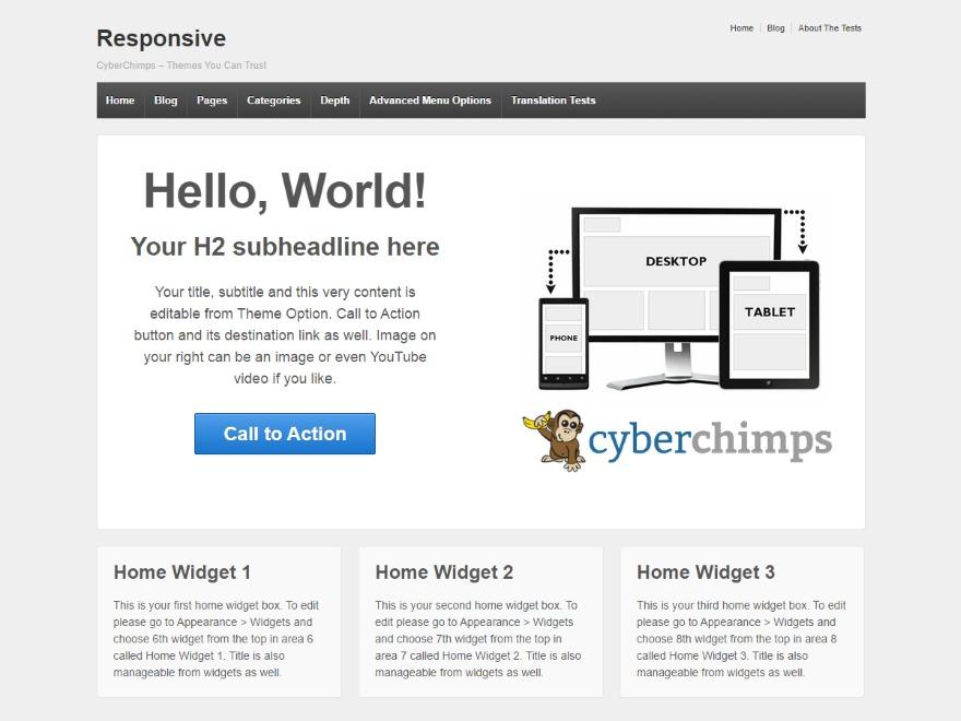 Responsive WordPress shop theme