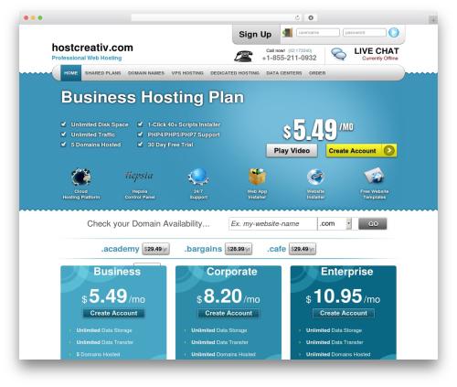 Simply Elegant WordPress website template - hostcreativ.com