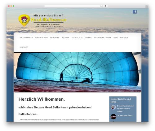Smartbox WordPress page template - head-ballonteam.de