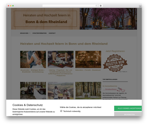 The Retailer WordPress theme - hochzeit-feiern-bonn.de