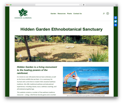 The7 landscaping WordPress theme - hiddengarden.co