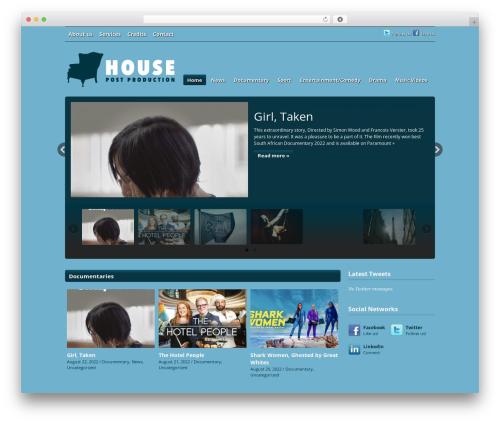 Videozoom WordPress movie theme - housepostproduction.com