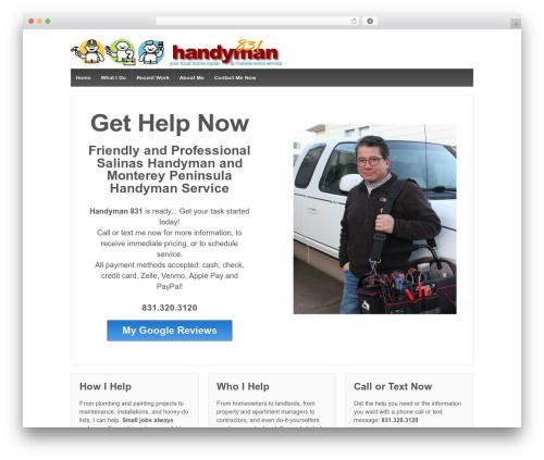WordPress theme Responsive - handyman831.com