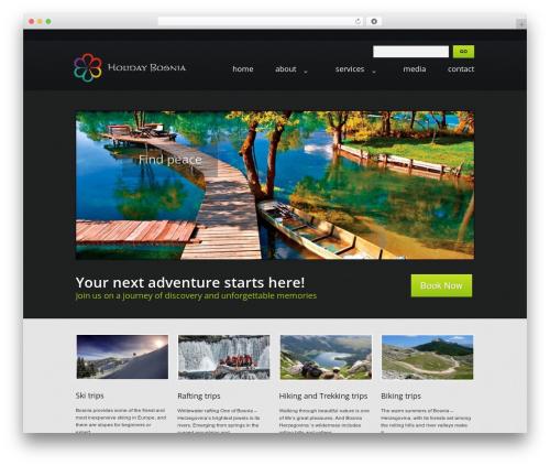 theme1404 WP template - holidaybosnia.com