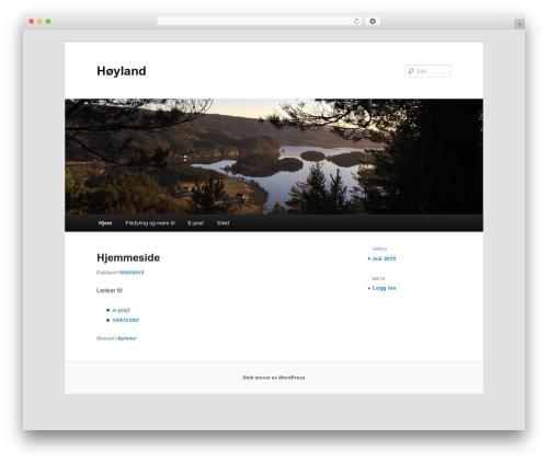 Free WordPress Twenty Eleven Theme Extensions plugin - hoyland.no