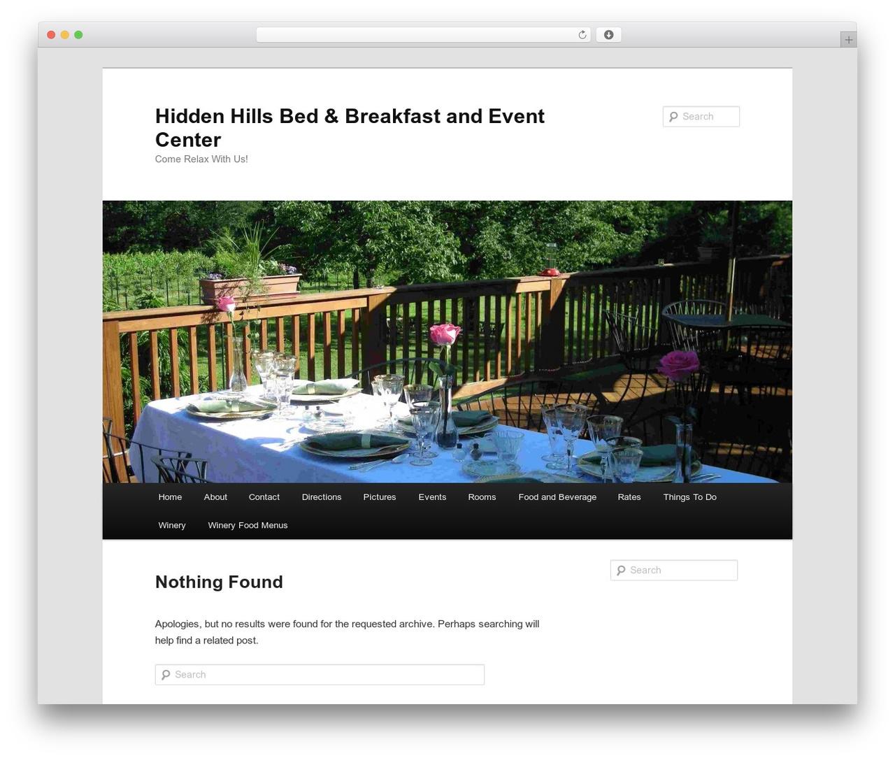 Twenty Eleven WordPress page template - hiddenhillsbandb.com/wordpress1