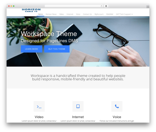 WordPress theme DMS - horizoncable.net