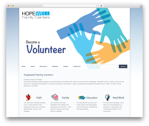 WordPress theme Razor - hopewellfamilycenter.com