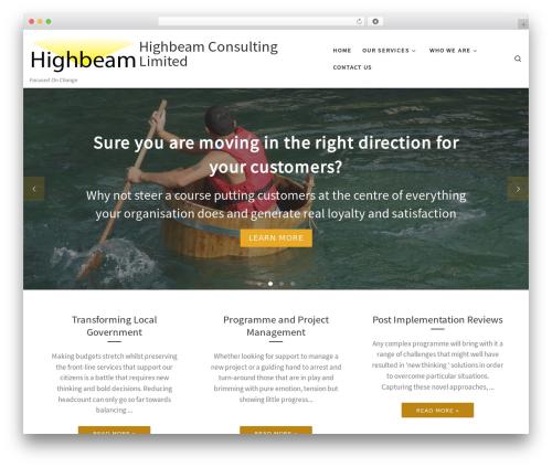 WP theme Customizr - highbeam.co.uk