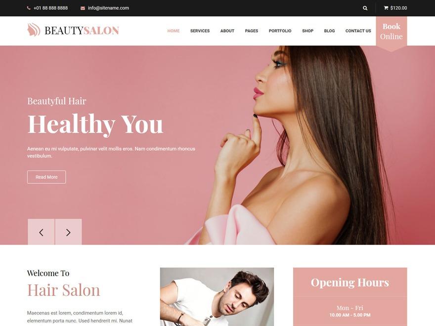 Belleza Pro wallpapers WordPress theme