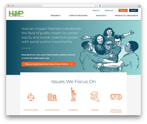 Betheme WordPress theme - humanimpact.org