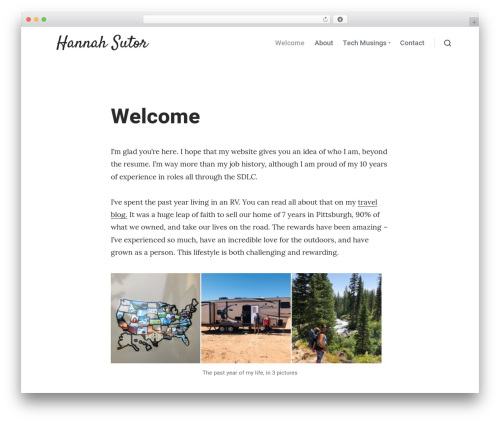 CoBlocks WP theme - hannahsutor.com
