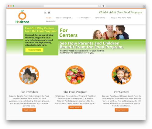 Customizr Pro WordPress theme - horizonsfoodprogram.org