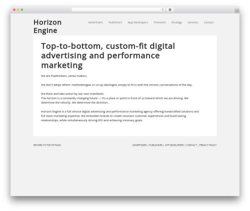 Executive Child Theme WordPress theme design - horizonengine.com
