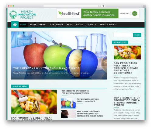 First Mag top WordPress theme - healthinnovationproject.org