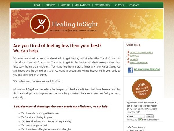 Healing In Sight WP theme