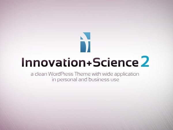 Innovation Science Wordpress Theme personal blog WordPress theme