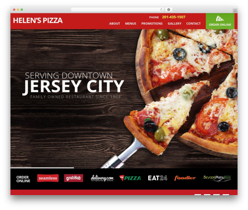 Jupiter food WordPress theme - helenspizza.com